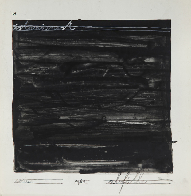 , 'istančanost (refinement) from the series 'Abfälle',' 1961, Aanant & Zoo