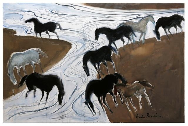 , 'L'Heure où les chevaux vont boire,' 2017, Opera Gallery
