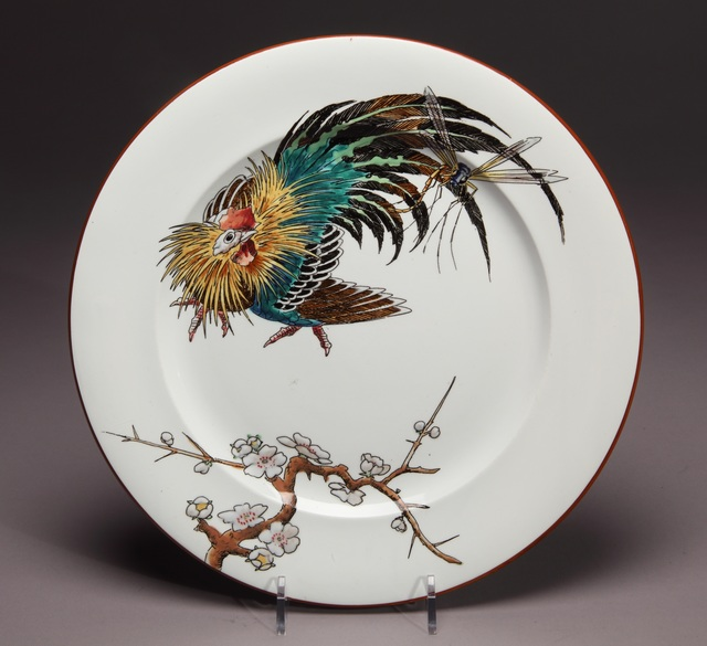 ", '""Japanese Cock"" dinner plate,' ca. 1880, New Orleans Museum of Art"