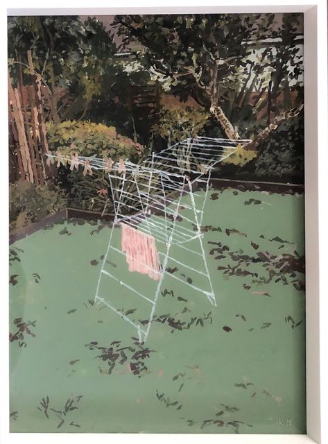 Isabella Kuijers, ' Hang out to dry', 2019, Painting, Acrylic on glass, 99 Loop Gallery