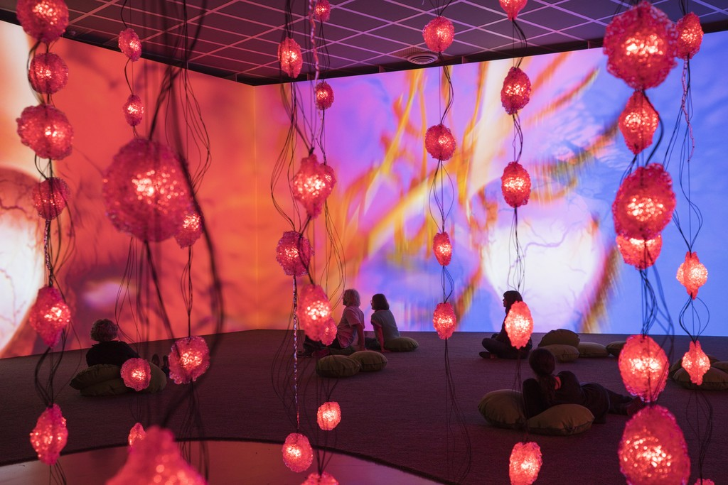 "Installation view of ""Pipilotti Rist: Pixel Forest"" at New Museum, New York (2016). Image courtesy of New Museum."