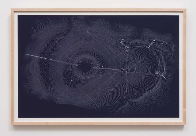 James Turrell, '1983 Site Plan Blueprint', 2013, Kayne Griffin Corcoran