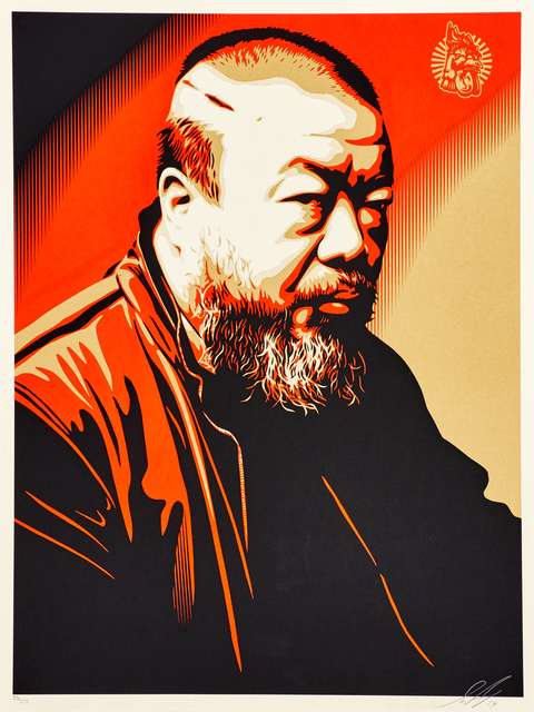 Shepard Fairey, 'Portrait of Ai Weiwei', 2014, Rago/Wright