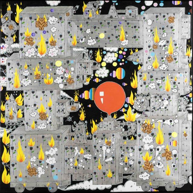 Rodrigo Godá, 'A máquina prateada e a flor negra', 2013, AM Arte Moderna