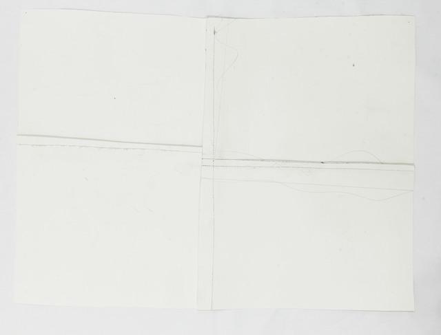 , 'Backstitch (quadrants),' 2015, blank projects