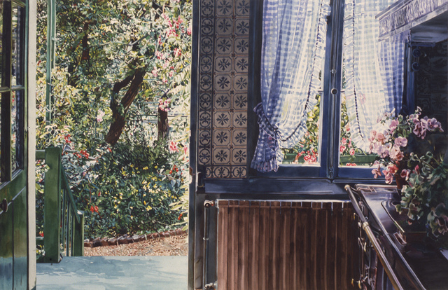 Carolyn Brady, 'Chauffage Centrale/ Giverny', 1990, Painting, Watercolor on paper, Nancy Hoffman Gallery