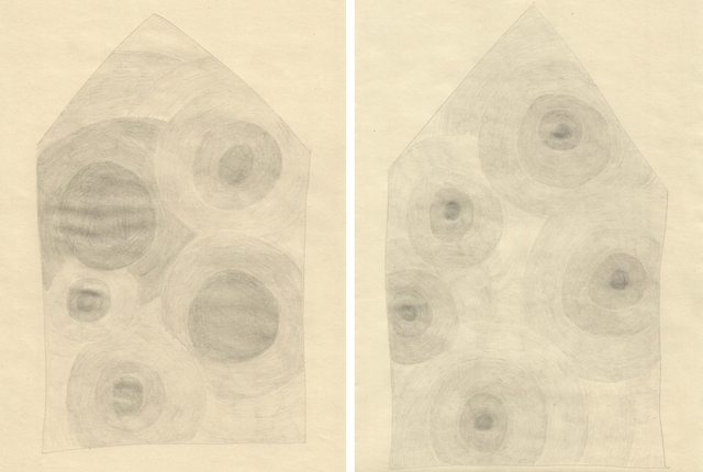 , 'Herz Häuser (set of 2 drawings),' 2017, The White House Gallery