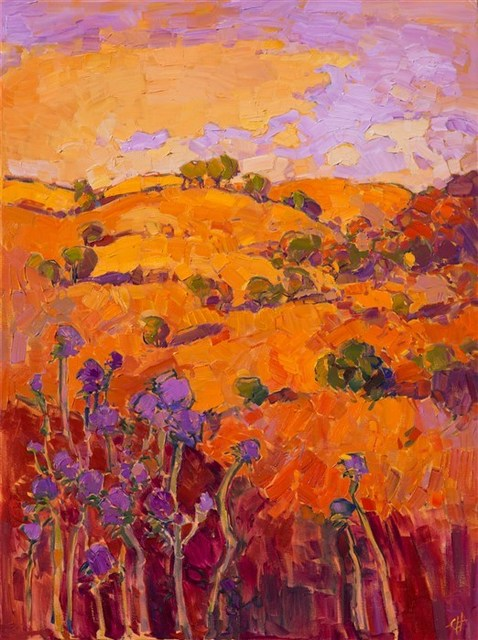 , 'Thistles on Orange,' 2016, The Erin Hanson Gallery