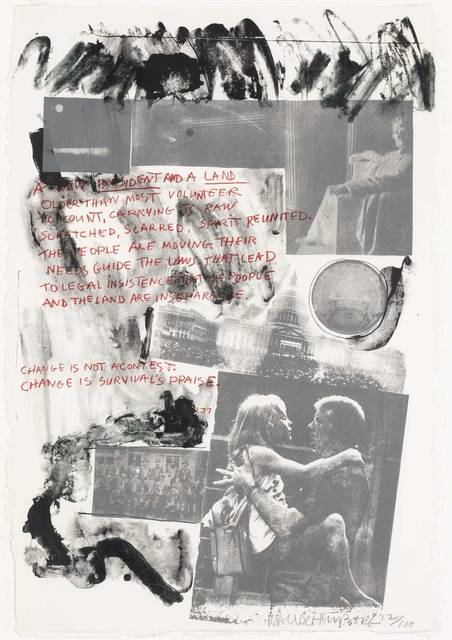Robert Rauschenberg, '1977 PRESIDENTIAL INAUGURATION (SPARKS 53)', 1977, Print, Color lithograph on wove Twinrocker handmade paper, Doyle