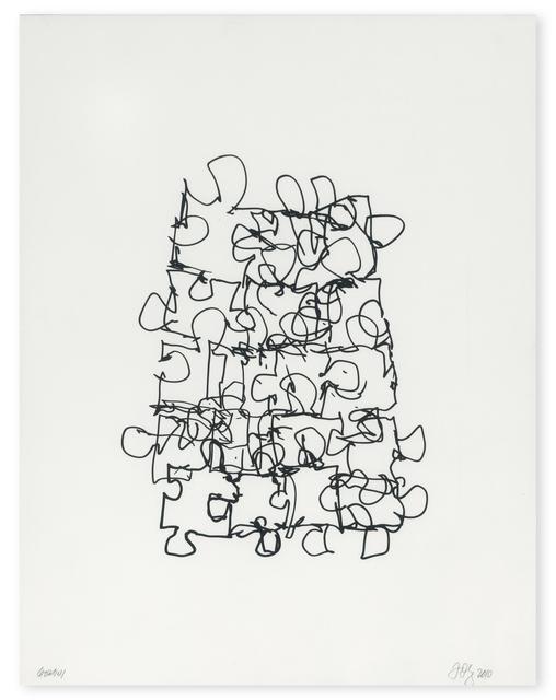 , 'Puzzled #6 (Black State),' 2012, Gemini G.E.L.