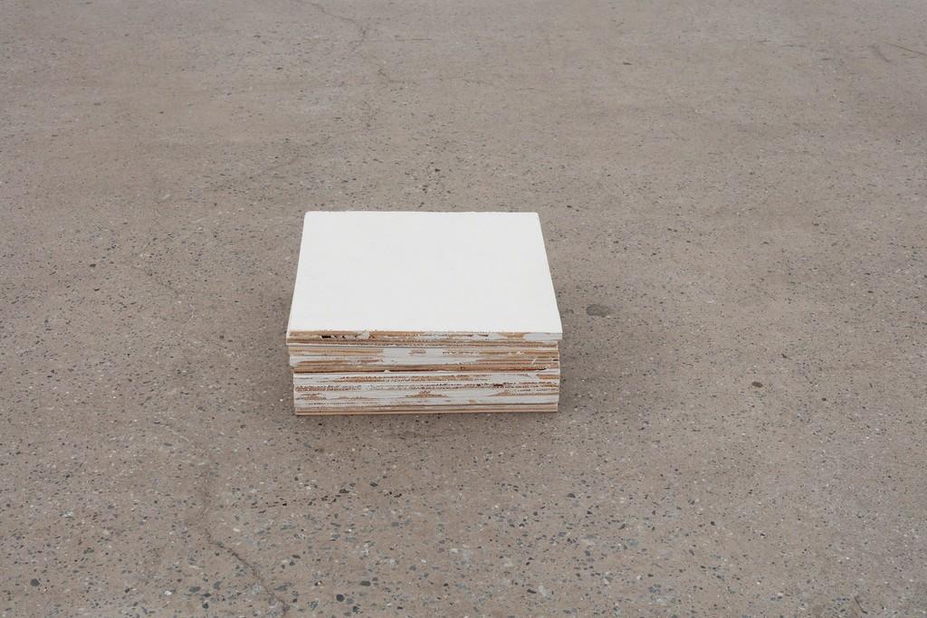 Fernanda Gomes Untitled, 2017 wood, paint 4,3 x 11,8 x 11,8 in