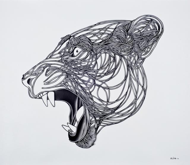 , 'Grey lioness,' 2014, Victor Lope Arte Contemporaneo