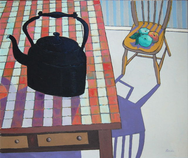 , 'Kitchen with kettle and chair with apples,' , Robert Eagle Fine Art
