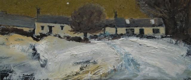 , 'Farm buildings, winter,' 2017, Castlegate House Gallery