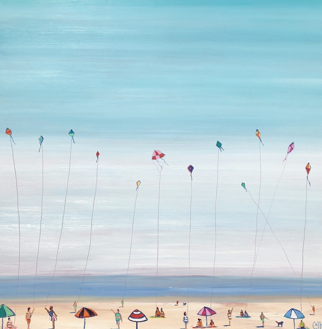 , 'Kite Flyers,' 2018, Tim Collom Gallery
