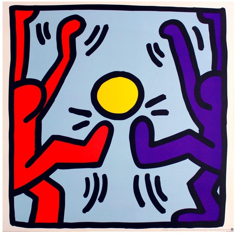 Keith Haring Untitled 2127 on Signature Reading Log