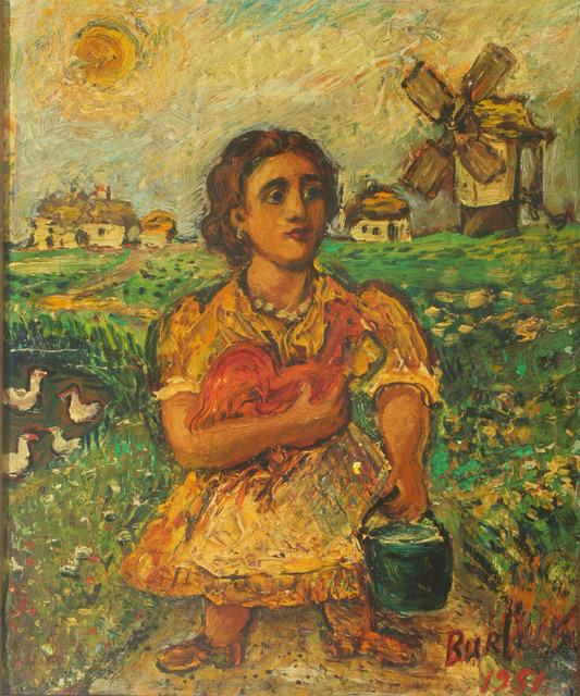 David Burliuk, 'Woman with Rooster', 1951, ACA Galleries