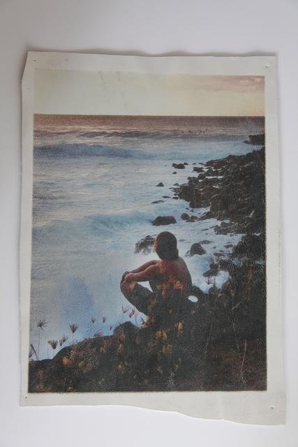 , 'White Leather Series: Boy watching surfers, Waimea Bay ,' 2015, Jo Shane + Maripol