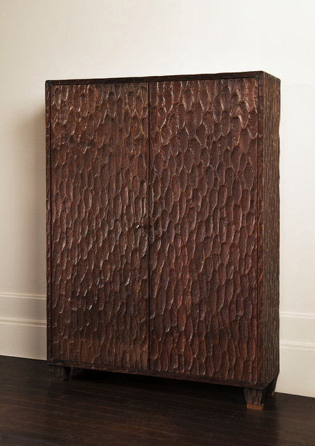 , 'Two-doors cabinet in gouge-worked oak,' ca. 1930, Vallois SAS
