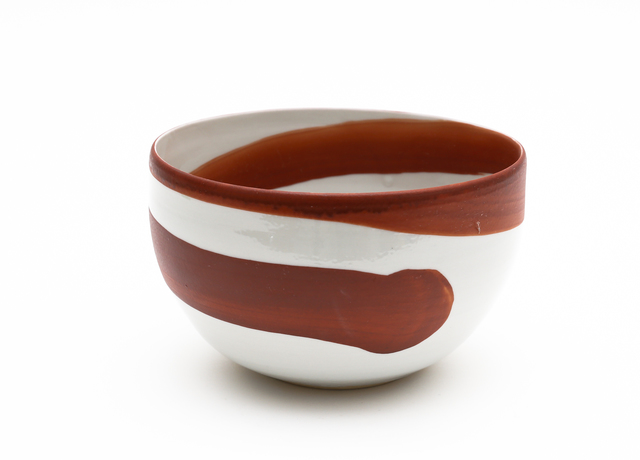 , 'Aka-e bowl with spiral pattern,' 2015, Ippodo Gallery