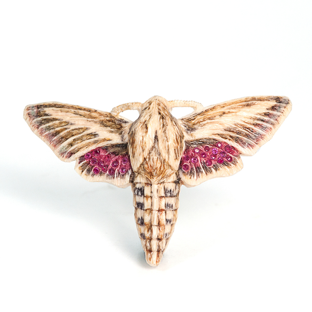 , 'Sphinx Moth with Rubies, Brooch,' 2001, The Gallery at Reinstein|Ross