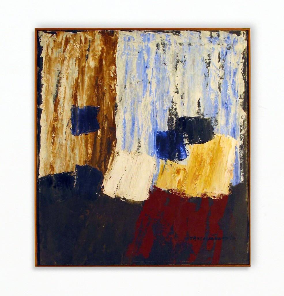 Nina Tryggvadottir, Abstraction (NT-OL-65-08), 1965, Oil on linen, 29.75 x 26.75