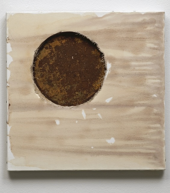June Clark, 'Poubelle Lune', 2006, Painting, Wine and tea on canvas, Daniel Faria Gallery