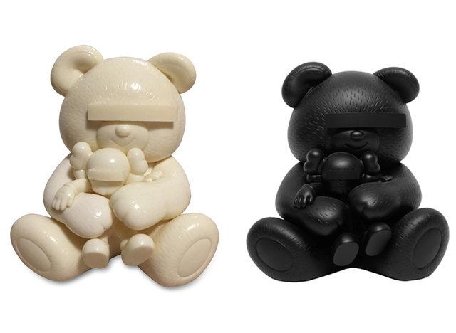 KAWS, 'Undercover Bear Set (White and Black)', 2009, Lougher Contemporary