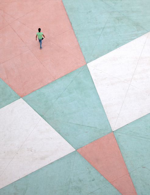 Serge Najjar, ''Walking on a Living Canvas II'', 2015, Photography, Photographic paper mounted on aluminum, Galerie Bessières