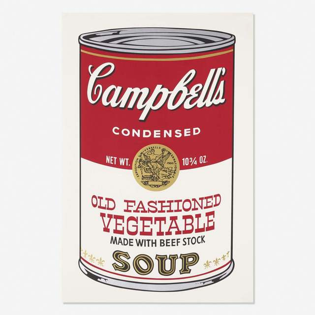 Andy Warhol, 'Campbell's Soup II, Old Fashioned Vegetable FS II 54', 1969, Print, Screenprint, Gregg Shienbaum Fine Art