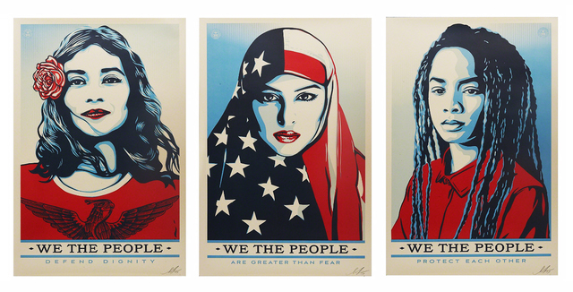 Shepard Fairey, 'We the People (signed set of 3)', 2017, EHC Fine Art