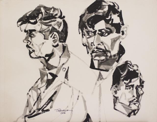 , 'Estudio Rostro Perfil,' 1956, Galería Nudo
