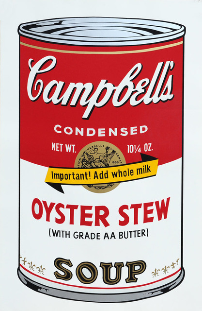 Andy Warhol, 'Oyster Stew Soup - With Grade AA Butter - Campbell's Soup II', 1973, Goldmark Gallery