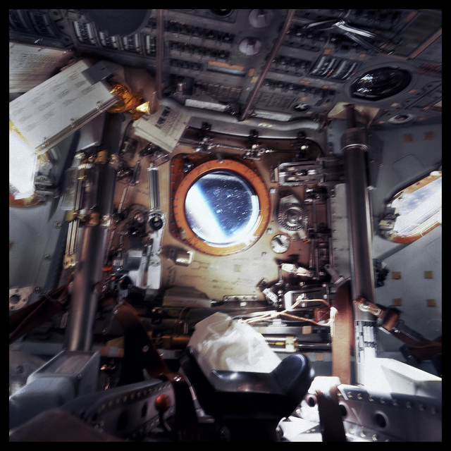 Michael Light, '005 Cabin of Command Module Gumdrop, Earth Beyond; Attributed to David Scott, Apollo 9, March 3-13, 1969', 1999, Danziger Gallery