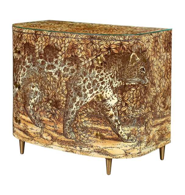 'Piero Fornasetti Hand-Painted and Lithographed Wood Leopard Chest of Drawers', Doyle
