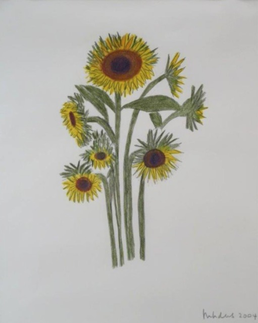 , 'Upright Sunflowers,' 2004, Andrea S. Keogh Art and Design