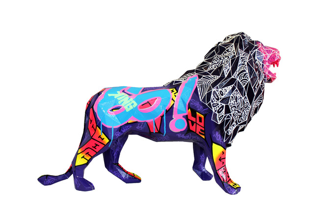 Richard Orlinski, 'Wild lion', 2017, Galerie Perahia