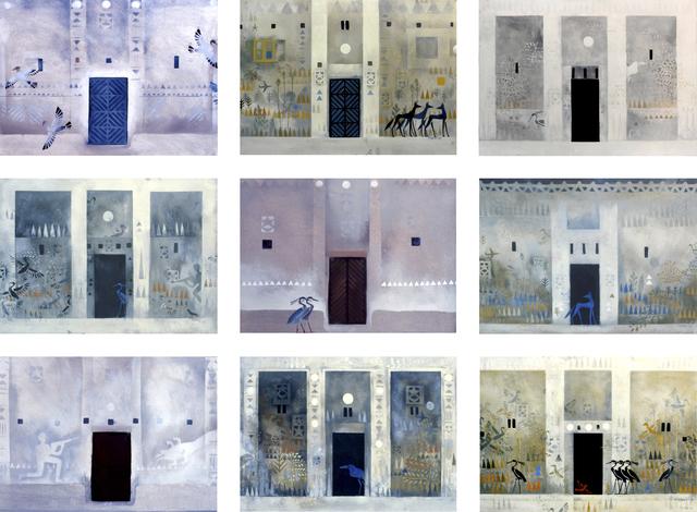 , 'Nubian Houses Doors 1980-1989,' 2017, Sabrina Amrani