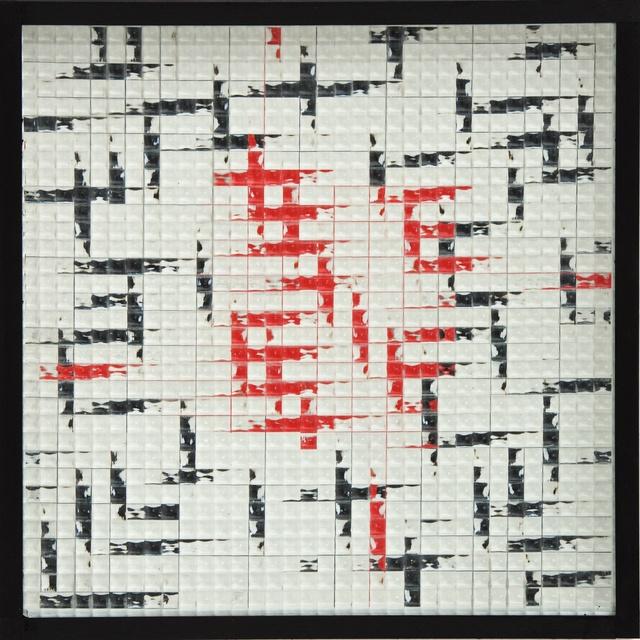 , 'Reticolo Frangibile. Quadrato rosso in quadrato nero,' 1968, Cortesi Gallery