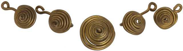 , '5 Brass Coil Buttons,' 1937, Joseph K. Levene Fine Art, Ltd.
