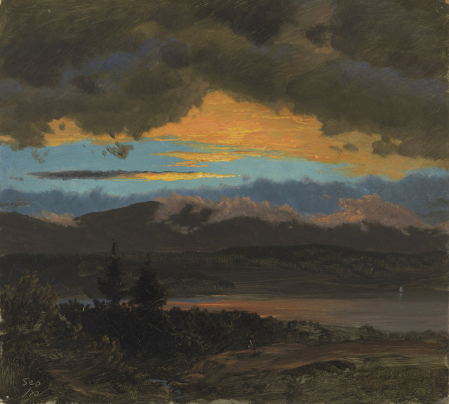 Hudson Valley New York: Sunset Across The Hudson Valley