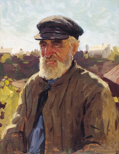 "Aleksandr Likhachev, 'Sketch ""Old man""', 1951, Surikov Foundation"