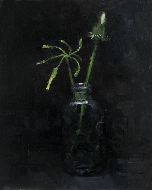 Tom Giesler, 'Floral 3: yard weeds', 2020, Painting, Oil on panel, McVarish Gallery