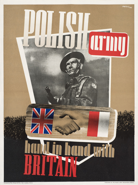 W. Meyer, 'Polish Army Hand in Hand with Britain', 1944, Print, Printed poster, Ben Uri Gallery and Museum