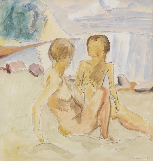 , 'Frau und Kind am Strand (Woman and Child at the Beach),' 1926, Galerie Herold