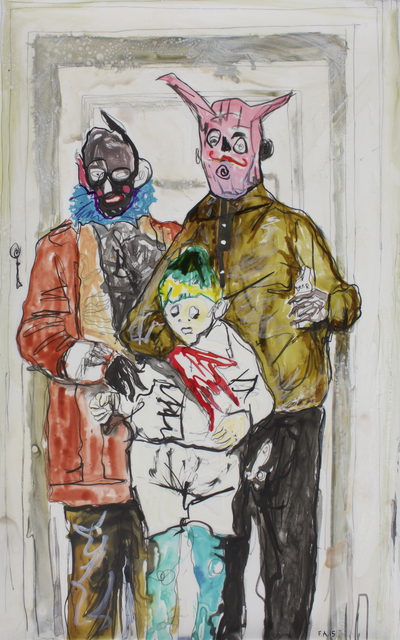 , 'Parents with Boy,' 2015, Spinello Projects