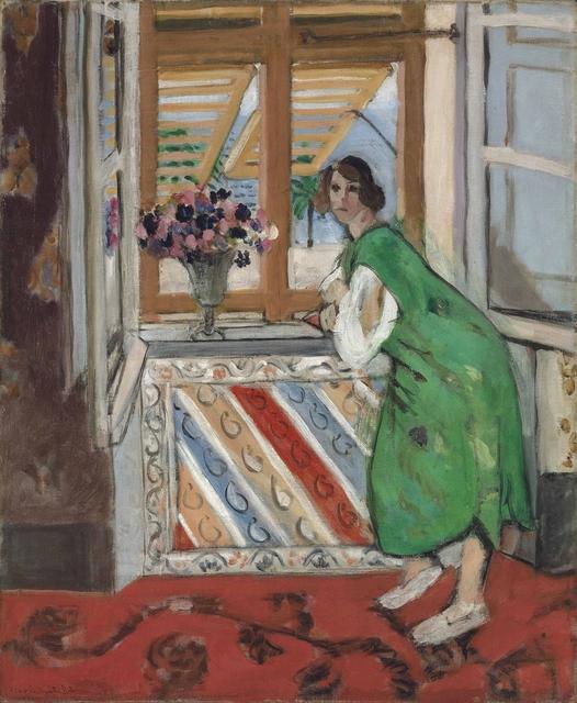 , 'Jeune fille à la mauresque, robe verte,' 1921, Bernard Jacobson Gallery