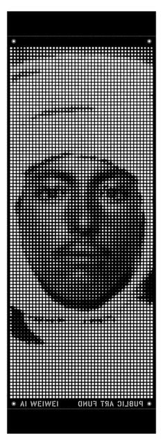 Ai Weiwei, 'Good Fences Make Good Neighbors / Banner 2', 2018, Print, CNC-cut vinyl, uJung Art Center