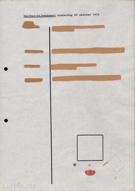 , 'Werkzeichnung,' 1970, Galerie Jocelyn Wolff