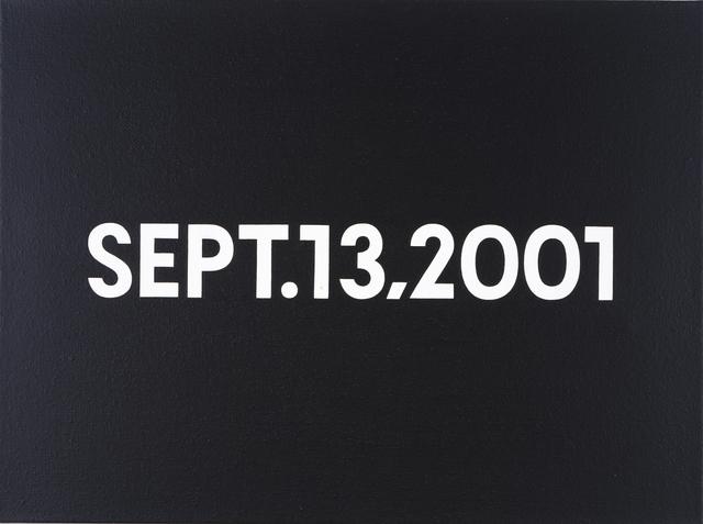 On Kawara, 'SEPT. 13, 2001', 2001, Christie's
